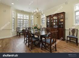 dining room suburban home cream colored stock photo 109770032
