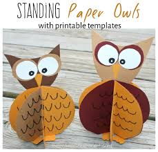 standing paper owl crafts u2013 the pinterested parent