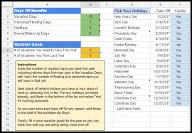 vacation days tracker google spreadsheet template vacationcounts