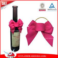wine bottle bow 2016 fashion design perfume bottle neck decorative bows wine
