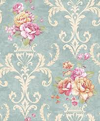 dr3035 non woven vintage flower wallpaper for home bedroom