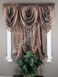 Ombre Window Curtains Ombre Tie Up Curtain Shade Sandstone Waterfall Valance Achim