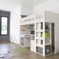Loft Bed With Closet Underneath Furniture Brown Wooden Loft Beds With Sliding Desks Underneath