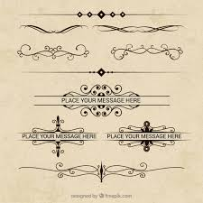 ornaments collection in retro style vector free