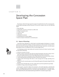 chapter 5 developing the concession space plan resource manual