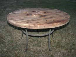 outdoor tables made out of wooden wire spools end table made from repurposed cable spool and metal base