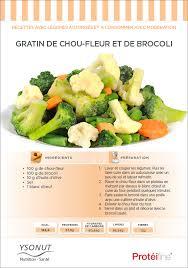 recette de cuisine pour regime recette diététique gratin de chou fleur et de brocoli
