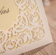 Unique Indian Wedding Invitation Cards Customize Off White Hollow Damask India Wedding Invitation Card
