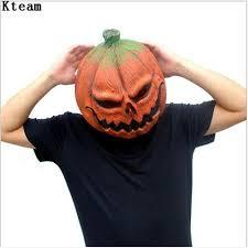 pumpkin mask mask pumpkin scarecrow mask creepy realistic