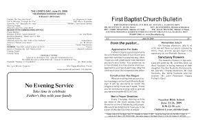 church programs templates memorial service programs sle baptist church bulletin