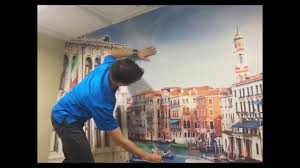 how to install a peel and stick wall mural youtube