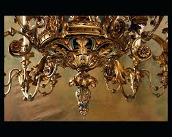 Italian Wood Chandelier Italian Antique Chandeliers Large Century Gilded Iron And Painted