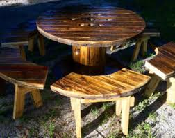 outdoor tables made out of wooden wire spools wire spool table top only