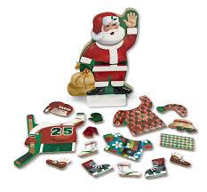 amazon com melissa u0026 doug santa wooden dress up doll and stand