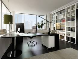 furniture modern home office desk ideas with design pc interior small office decor with dark brown stained wooden table u shaped black small office design