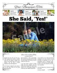 Newspaper Wedding Program Wedding And Anniversary Newspapers Print And Digital