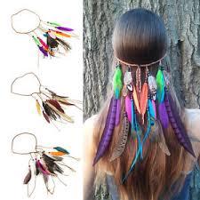 feather hair clip 1pc headband hair clip braided feather hair band fashion elastic