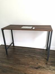 Industrial Standing Desk by Counter Height Standing Computer Barn Wood Desk With Wood Stool