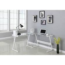 L Shaped Computer Desk White Santorini L Shaped Computer Desk Colors Walmart