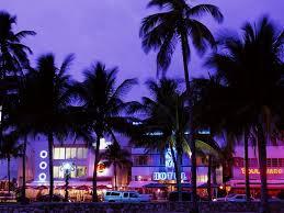 misc art deco district south beach miami florida usa blue palm