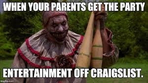 Creepy Clown Meme - scary clown from american horror story imgflip