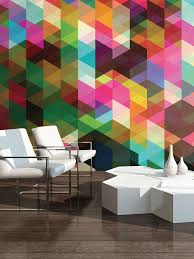 graham u0026 brown colourful geometric pattern wall mural house