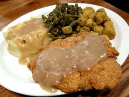 southern cooking chicken fried chicken mashed potatoes and