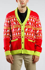 christmas card igan red mens gongshow ugly christmas sweater