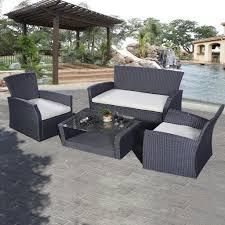 Gray Patio Furniture Sets Grey Wicker Outdoor Furniture Simple Outdoor Com