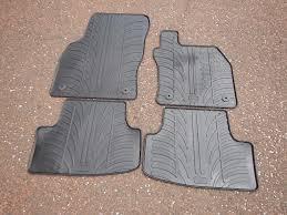 genuine seat leon 5f rubber car mats also fit golf mk7 audi a3