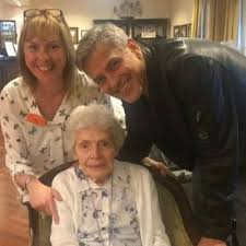exclusive george clooney u0027s 87 year old superfan reacts to actor u0027s
