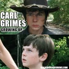 Walking Dead Memes Season 1 - carl has grown up since season 1 the walking dead memes
