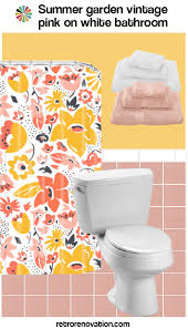 Yellow And Pink Bathroom 15 Ideas To Decorate A Pink And White Bathroom Retro Renovation