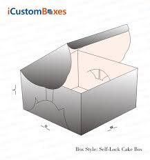 self lock cake boxes custom cake boxes wholesale icustomboxes
