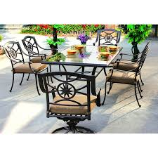 Patio Furniture 7 Piece Dining Set - shop darlee ten star 7 piece antique bronze glass patio dining set