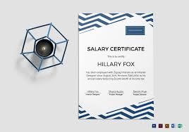 simple salary certificate design template in psd word publisher