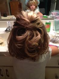 pageant style curling long hair little girls wedding hair my niece annabel loved her curls i