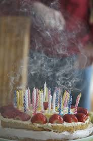 free photo birthday cake blown out candles free image on