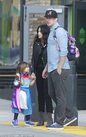 channing tatum insists he never channing tatum and jenna dewan carry costumed daughter everly to