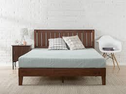 antique espresso deluxe solid wood platform bed with headboard