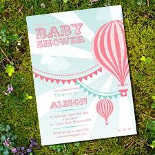 air balloon baby shower decorations for a