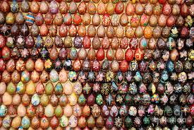wooden easter eggs mosaic with wooden easter eggs photograph by kaufman