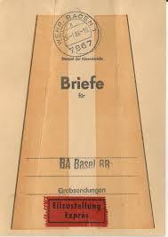 Wehr Baden Wehr Baden Brief Bund Fahne F Express Sendungen F Ba Basel Bad