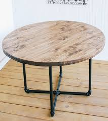 Diy Round Coffee Table by Reclaimed Wood Round Coffee Table With Pipe Base Home Furniture
