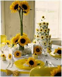 Centerpieces With Sunflowers table decorations with sunflowers wedding in colors pinterest