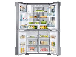 Counter Depth Stainless Steel Refrigerator French Door - 22 cu ft counter depth 4 door flex food showcase refrigerator