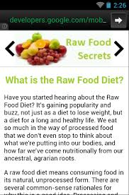 raw food secrets android apps on google play