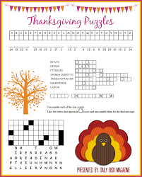 thanksgiving puzzles printables daily dish magazine recipes