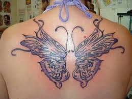 tattoos butterfly and butterfly back