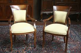 furniture brown polished wooden dining chairs with arms combined